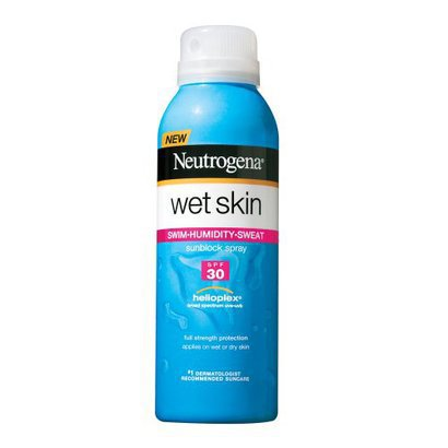 $8.06 at Target  I get lazy sometimes when it comes to sunscreen and reapplying so I always have a spray can handy. I sail and know that no sunscreen is truly waterproof but it helps to find the ones that claim to be.